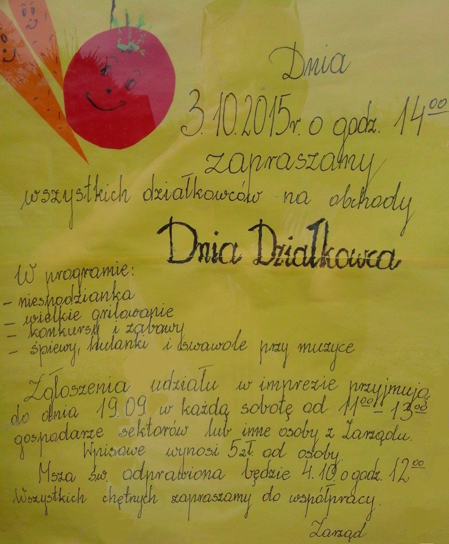 Dzień Działkowca - 2015r
